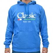 Moletom Classic Azul Claro com Capuz