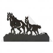 Porta-guardanapo Dois Cavalos Importado de Metal