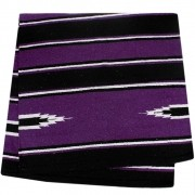 Sobremanta de Lã Weaver Leather Roxo e Preto