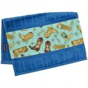 Toalha de Mãos Cowboys Azul com Botas e Rosetas