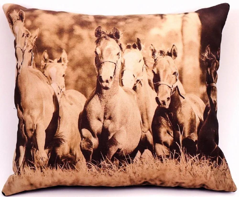 Almofada Country Cavalos Correndo