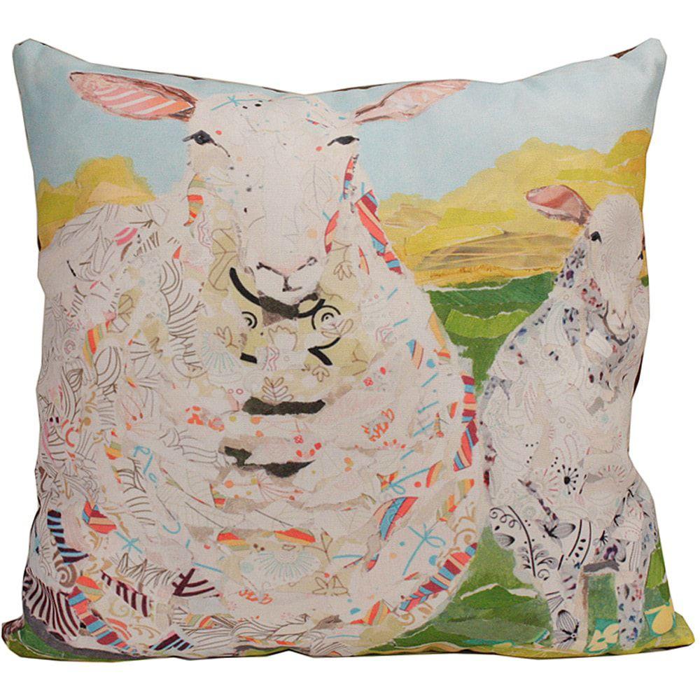 Almofada Country Importada Colorida Estampa de Ovelhas