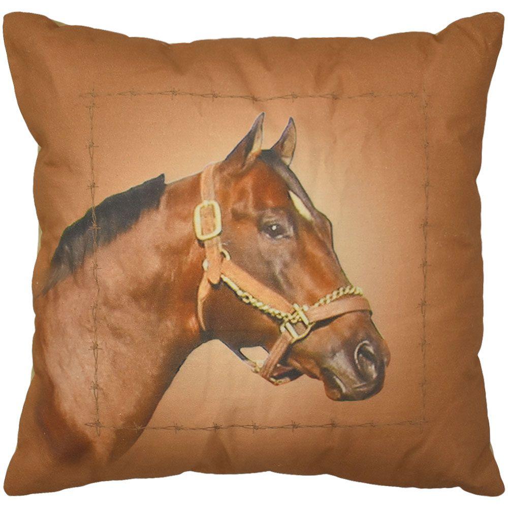 Almofada Cabeça de Cavalo Grande Marrom