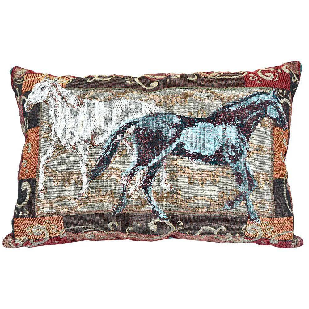 Almofada Tecido Goldem Cavalos