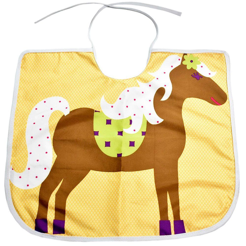 Babador Little Horse Infantil Amarelo