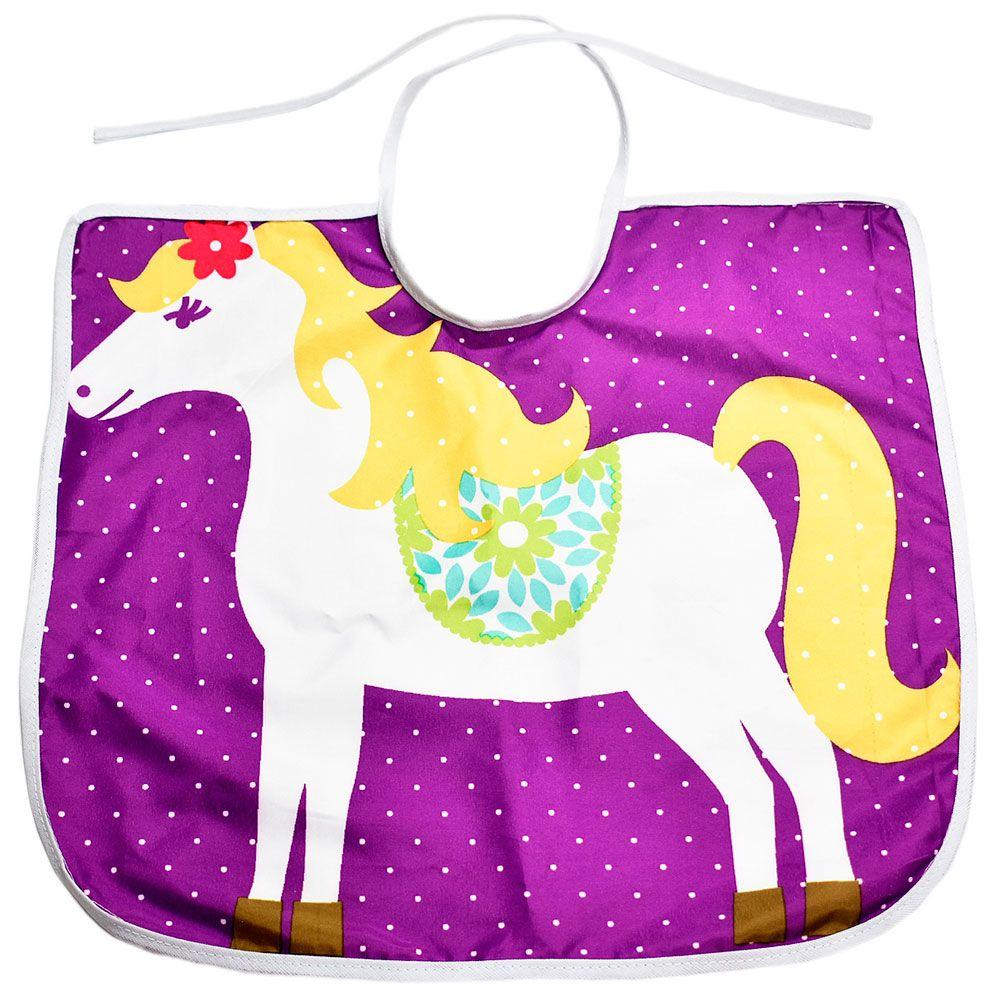Babador Little Horse Infantil Roxo