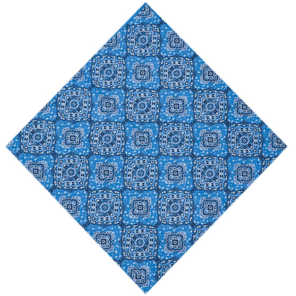 Bandana Cowboys Mandala Floral Azul