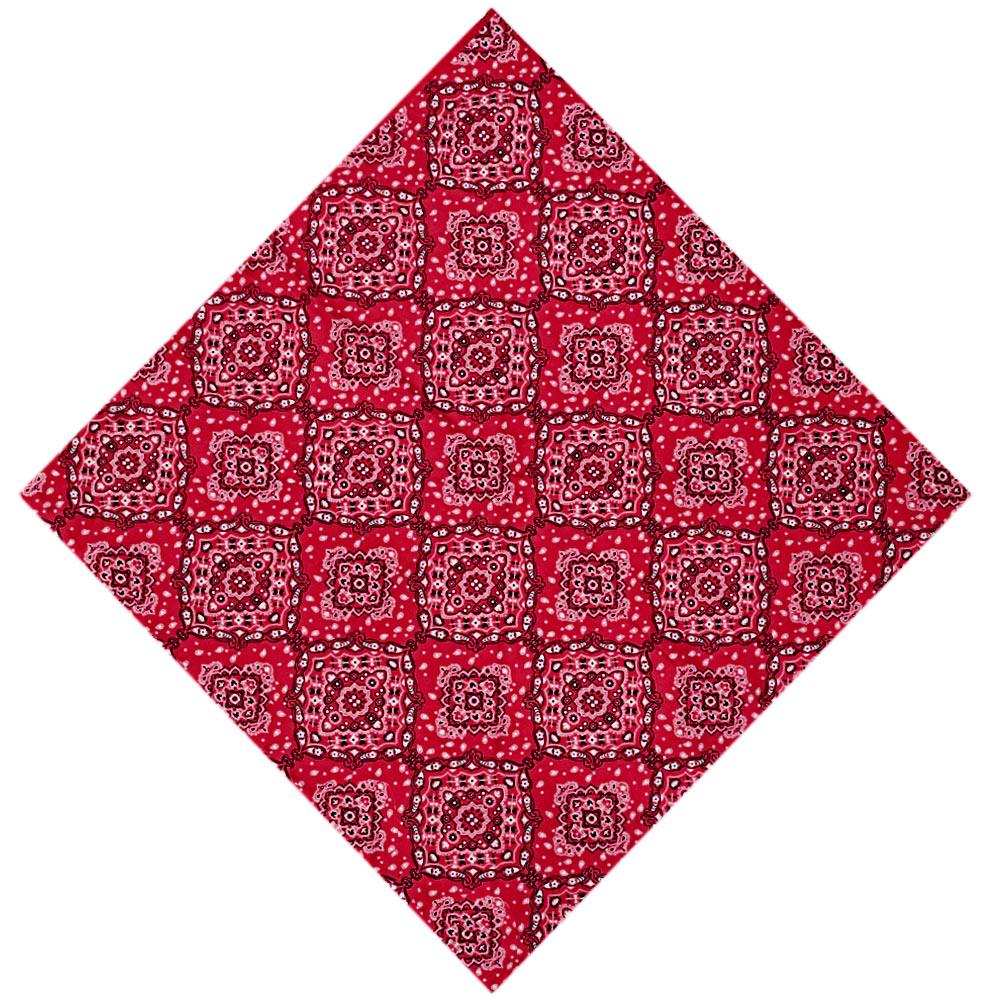 Bandana Cowboys Mandala Floral Vermelha