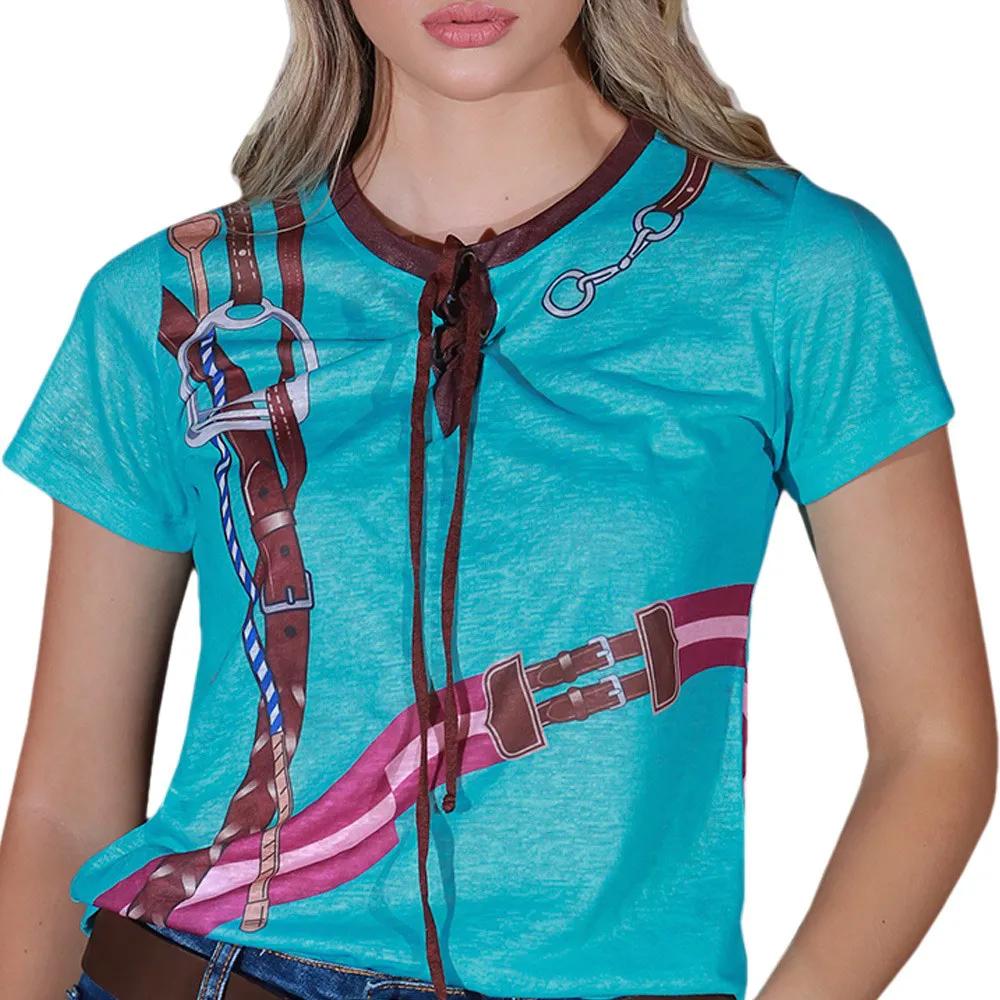 Blusinha Feminina Cowboys Turquesa Lucy