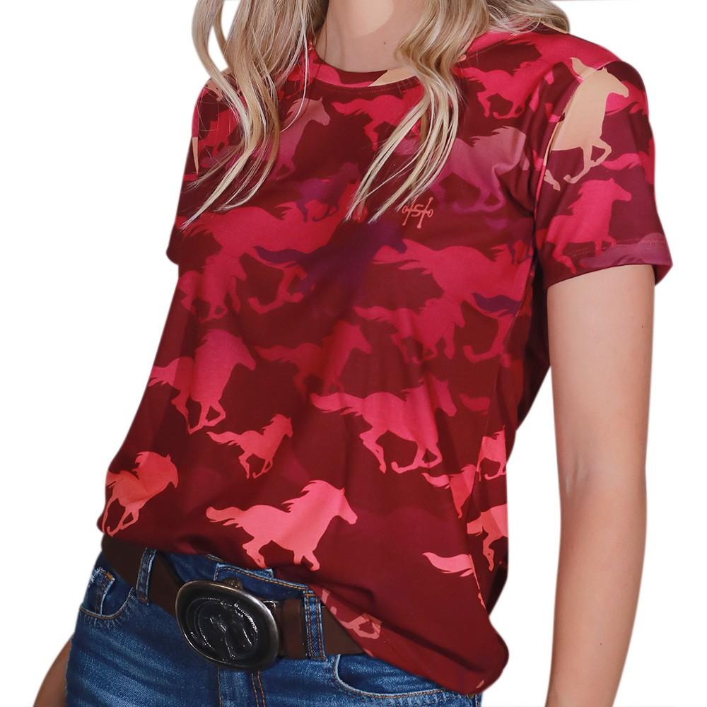 Blusinha Feminina Cowboys Vinho Cindy