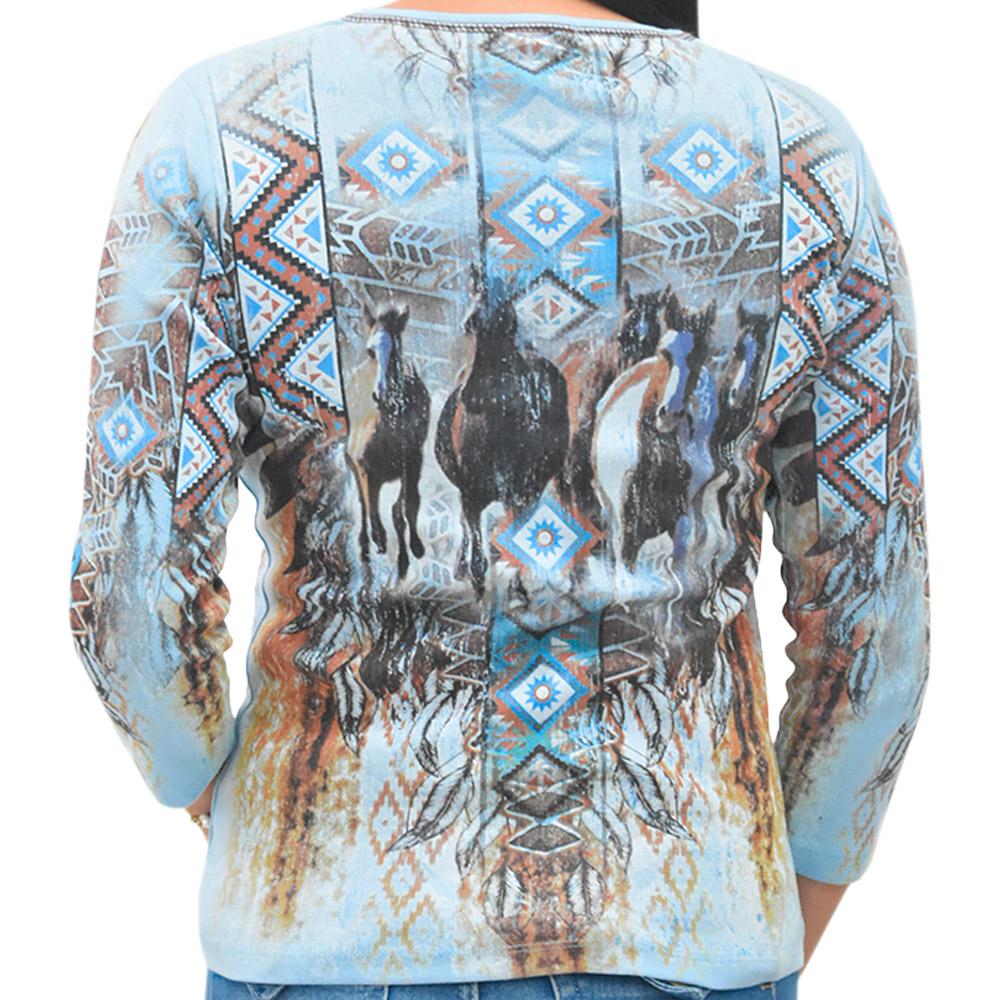 Blusinha Feminina Importada Estampa Navajo