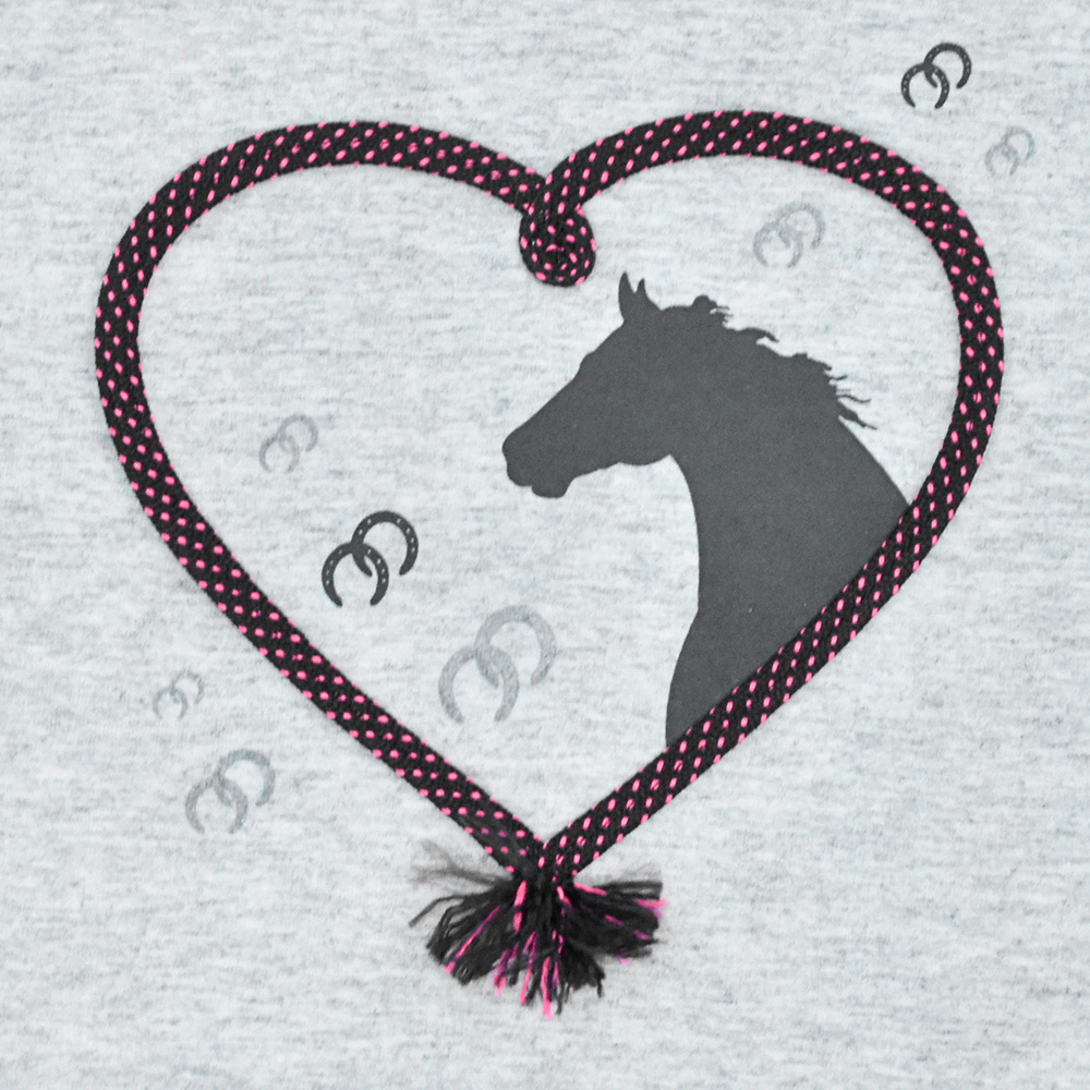 Blusinha Infantil Cowboys Cinza Mescla Horse Love