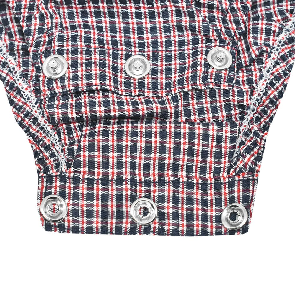 Body Camisa Cowboys Azul Marinho e Vermelho