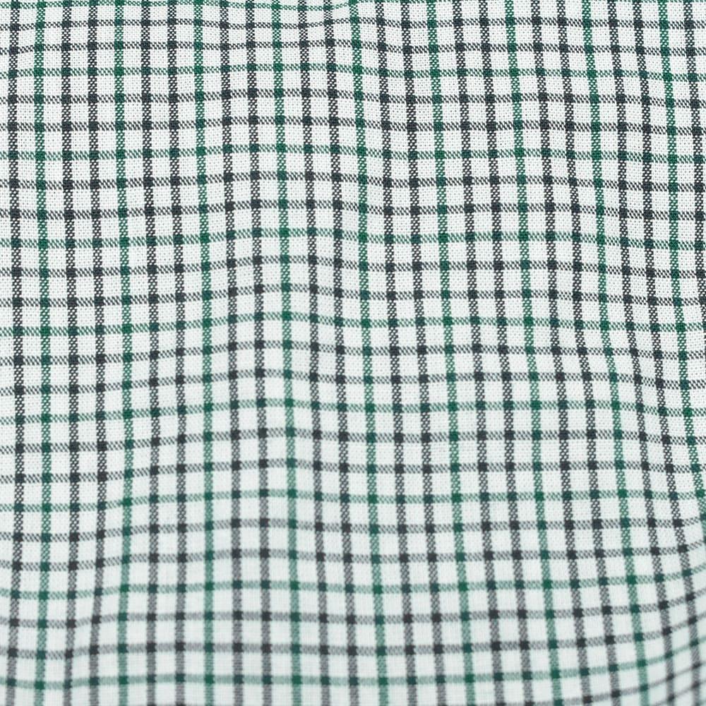 Body Camisa Infantil Cowboys Manga Longa Xadrez Branco, Verde e Preto