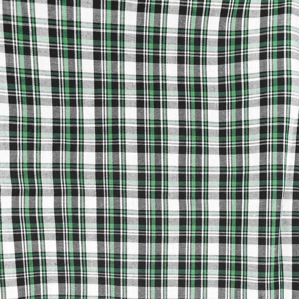 Body Camisa Infantil Cowboys Xadrez Verde, Branco e Preto