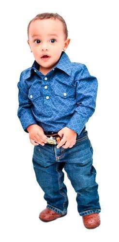 Body Camisa Infantil Importado Azul Escuro Losango