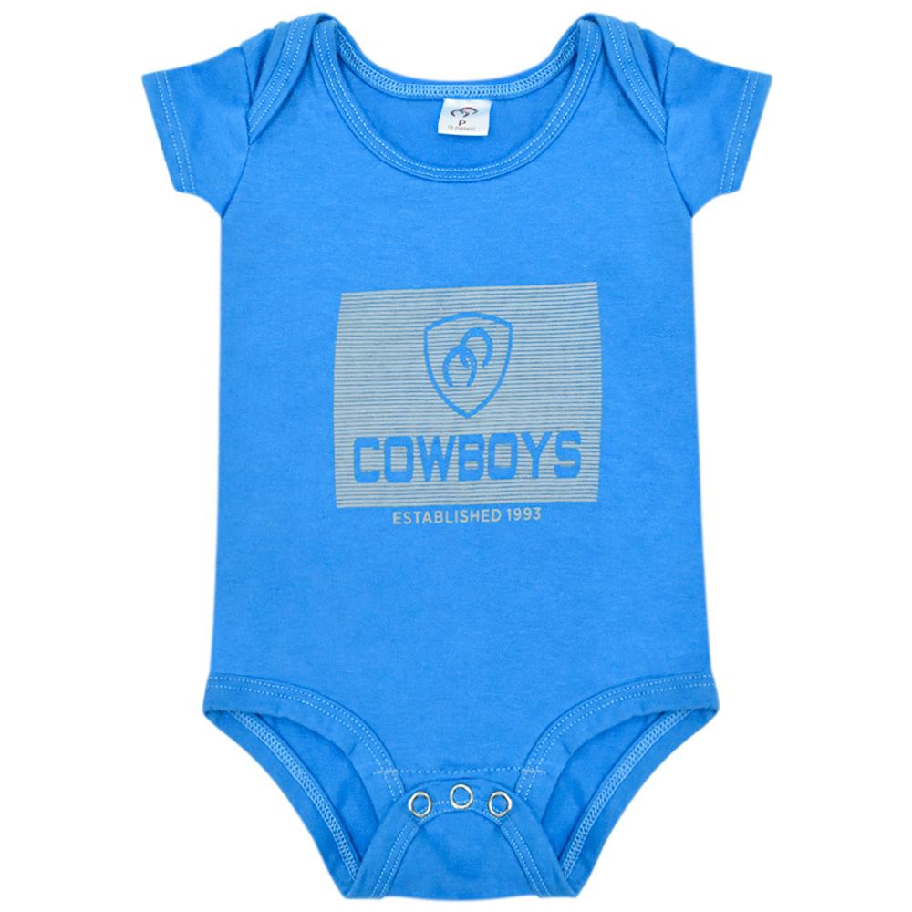 Body Infantil Pai e Filho Cowboys Azul Established 1993