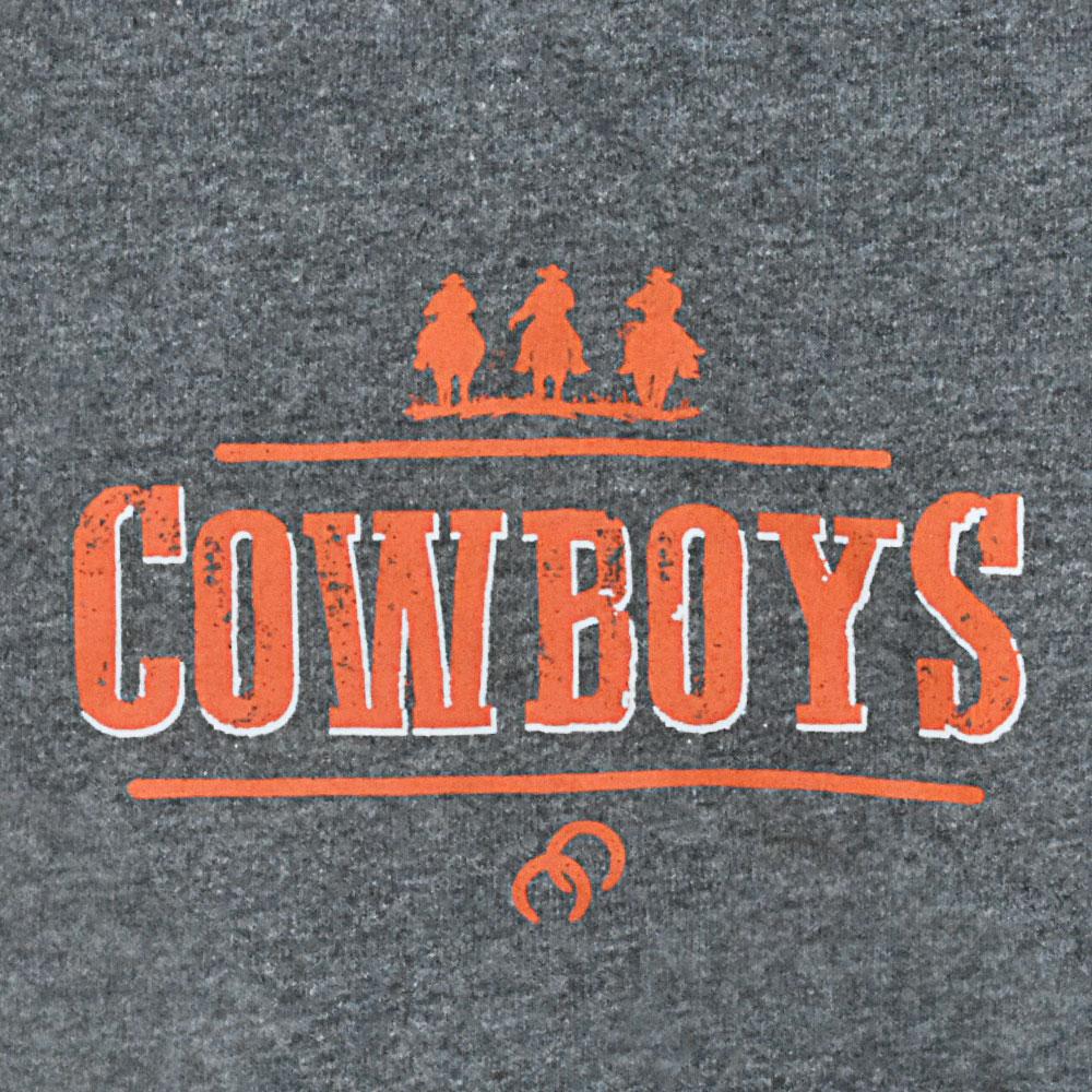 Body Infantil Pai e Filho Cowboys Cinza Mescla Cavaleiros e Ferraduras