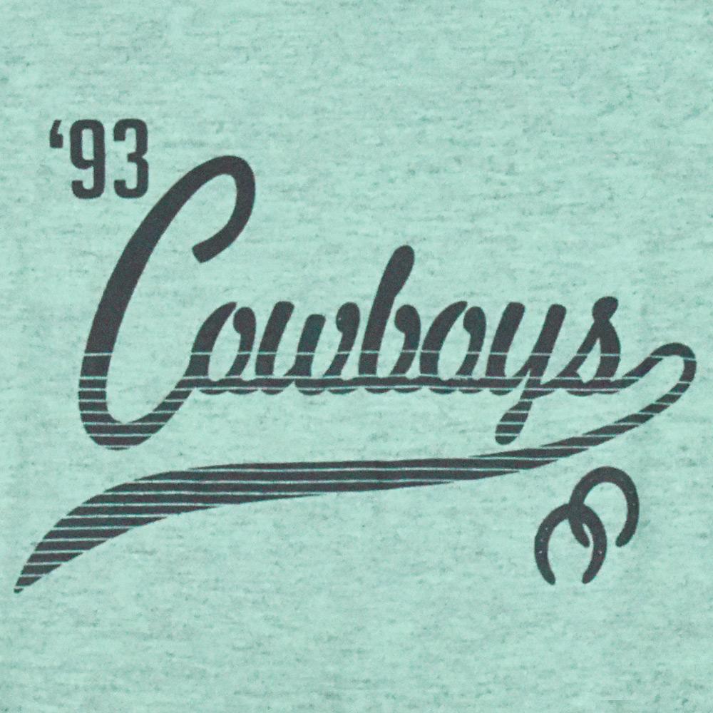 Body Infantil Pai e Filho Cowboys Verde Água Mescla 1993 Ferraduras