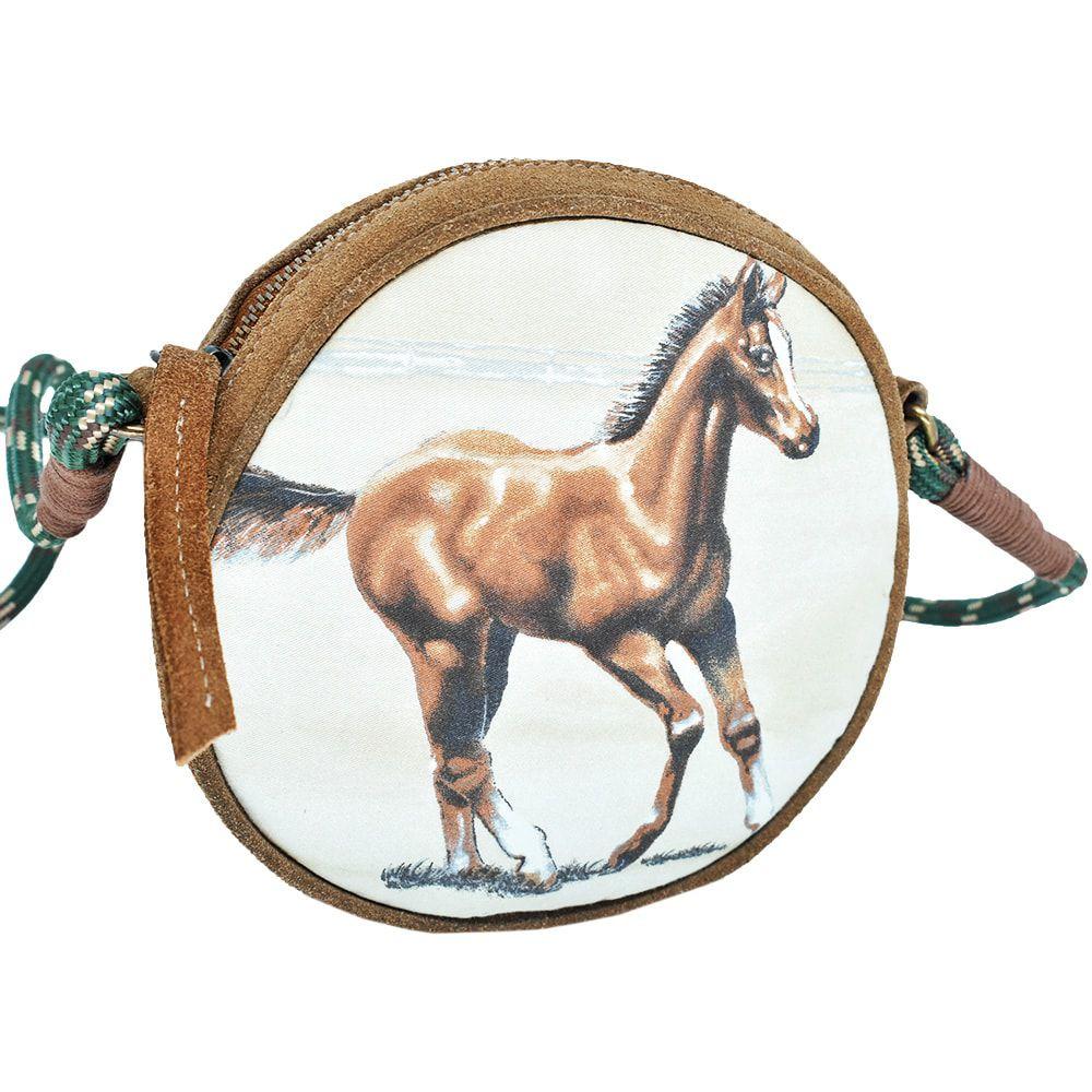 Bolsa de Couro Cowboys com Alça de Peia