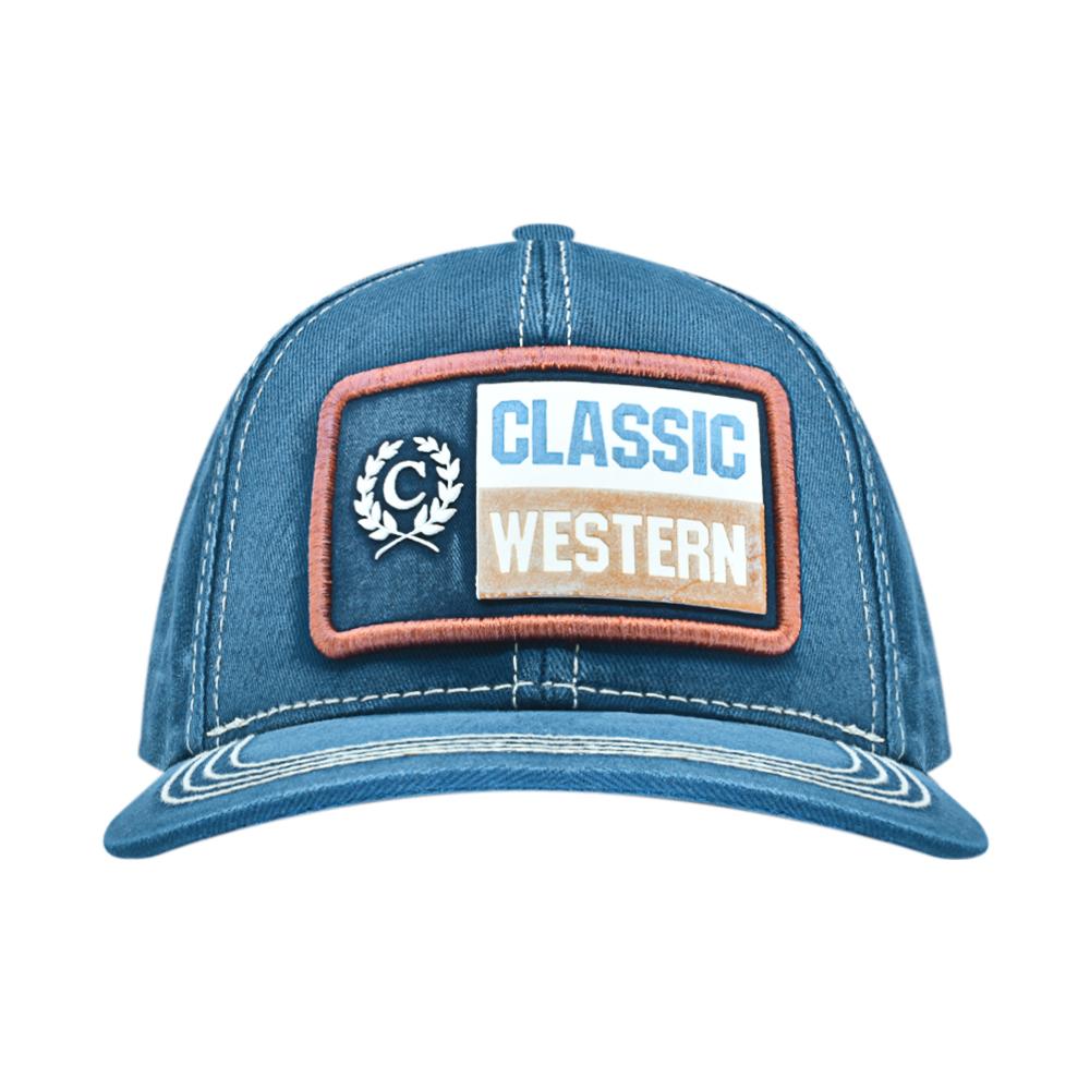 Boné Classic Pai e Filho Azul Jeans Western Tela