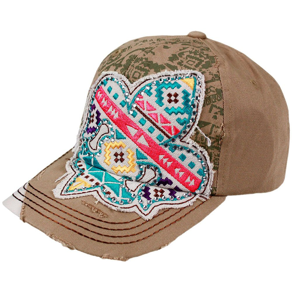 Boné Feminino Importado Country Aplique em Apache - Loja Cowboys 21100e1d189