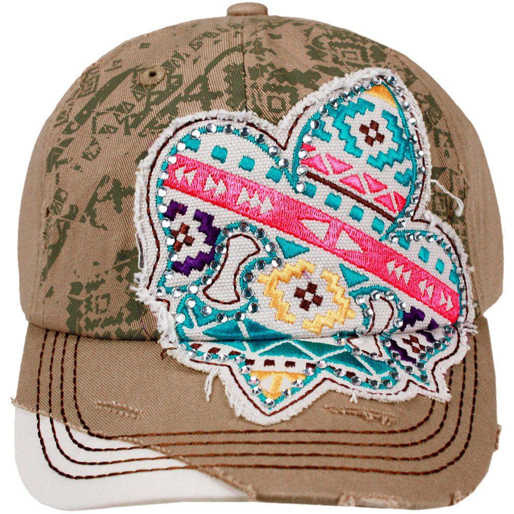 ... Boné Feminino Importado Country Aplique em Apache - Cowboys ... 8eb204c4702