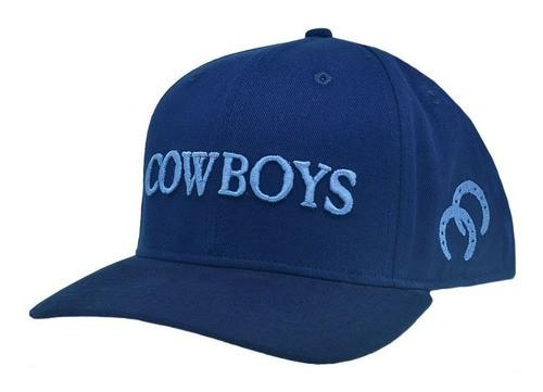Boné Cowboys Azul Escuro Bordado
