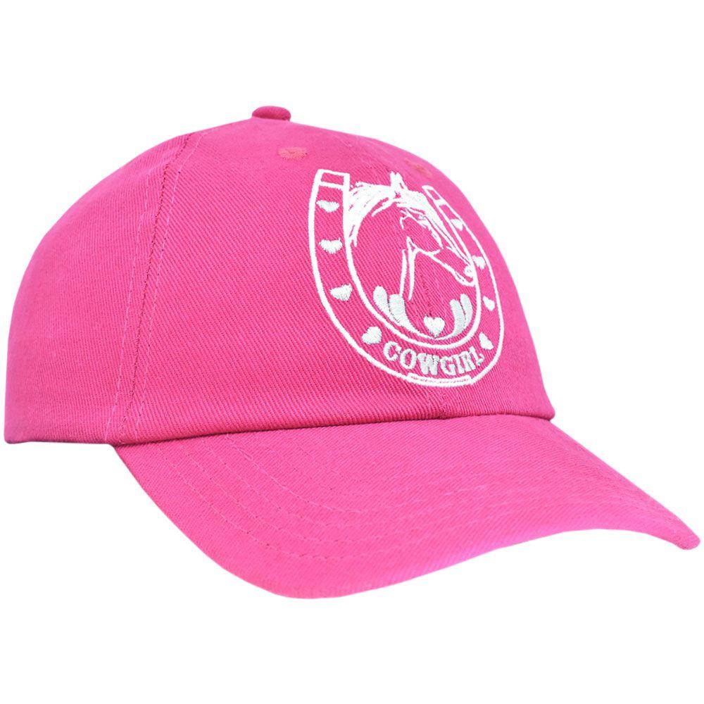 Boné Juvenil Cowgirl Pink Ferradura e Coração
