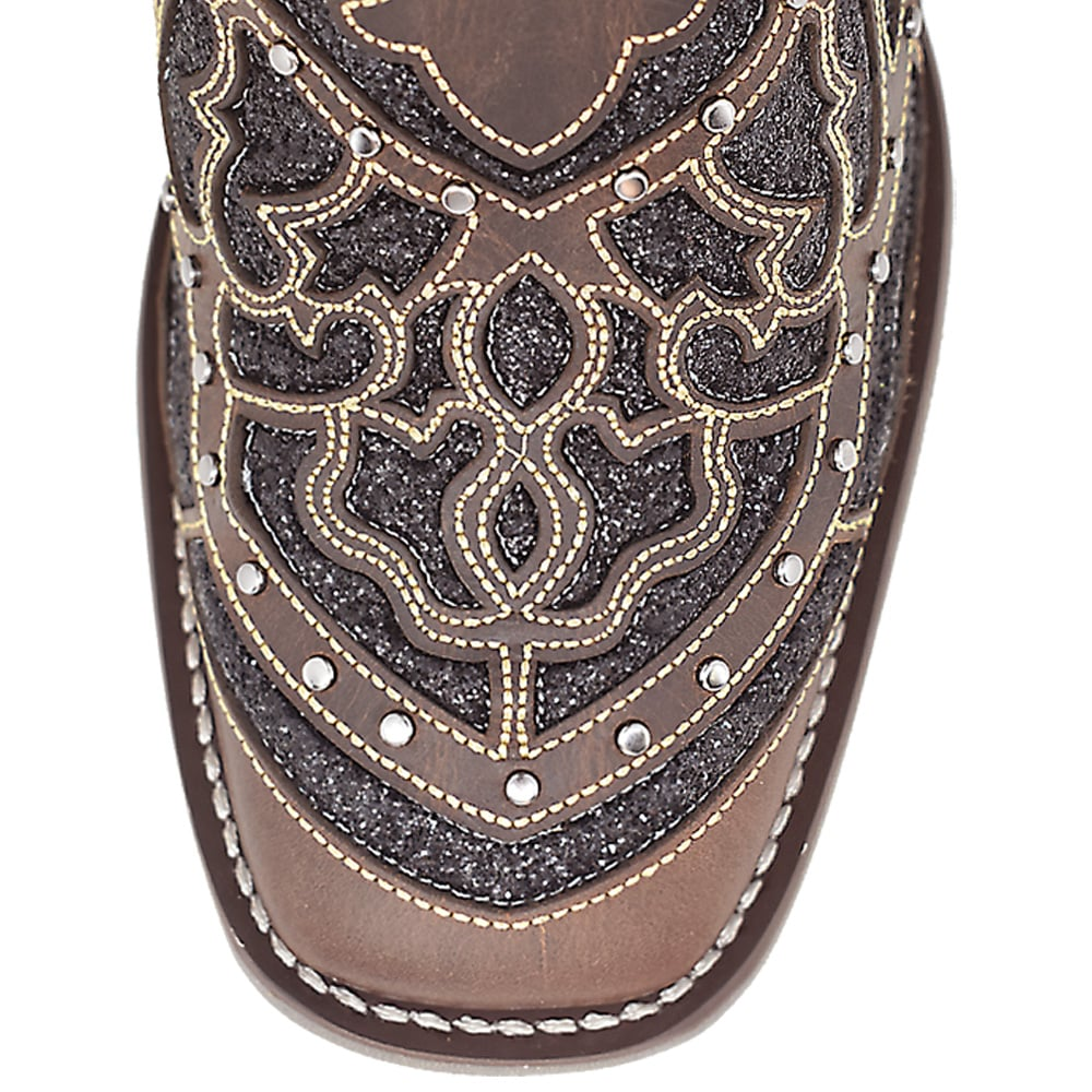 Bota Feminina Cowboys Marrom de Glitter