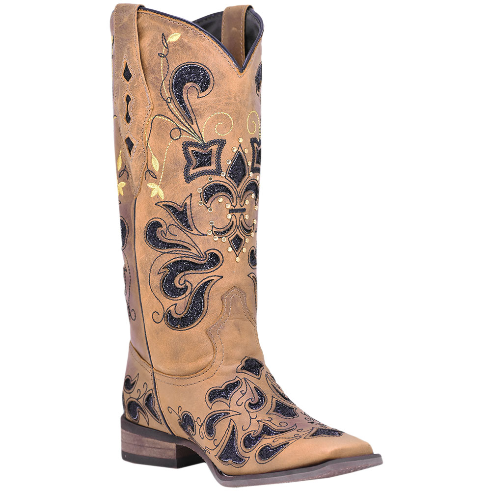 Bota Feminina Cowboys Texana Fossil Marrom