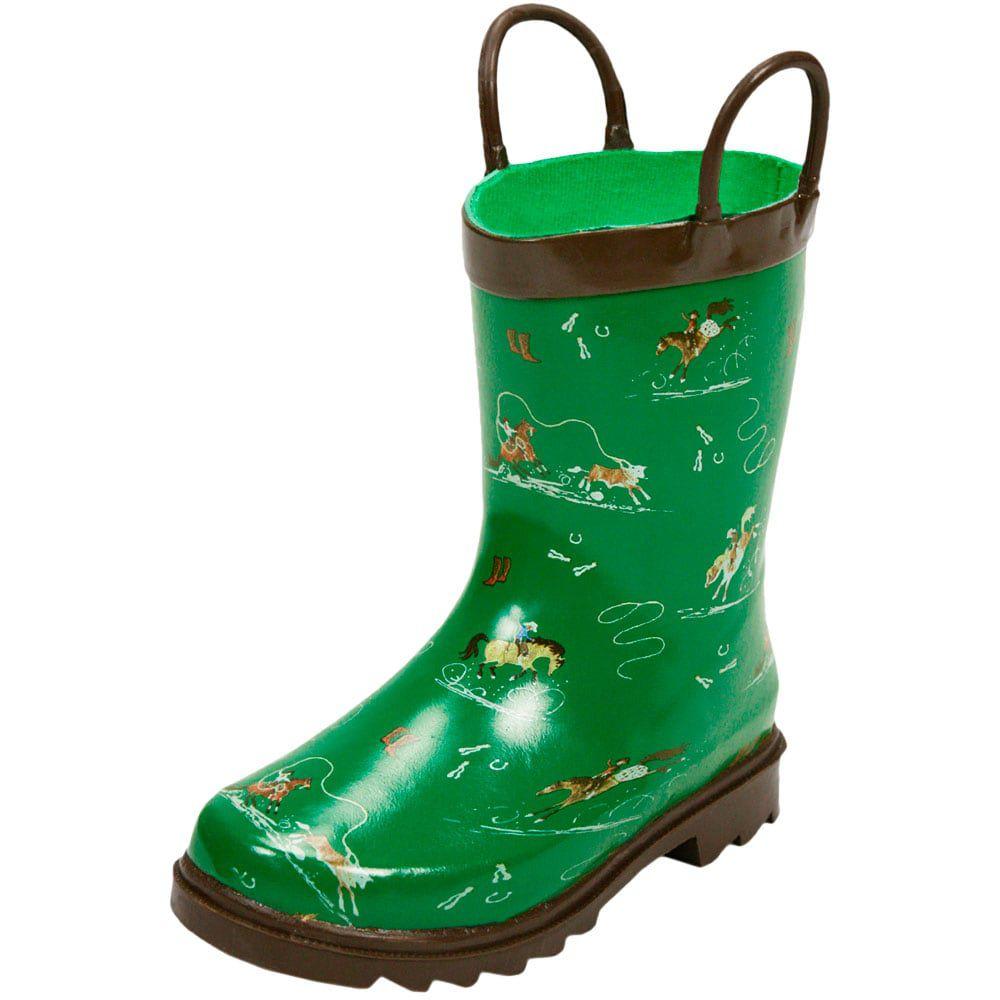 0319a9977d0 Bota Galocha Infantil Importada Verde Modalidades do Mundo Country - Cowboys  ...