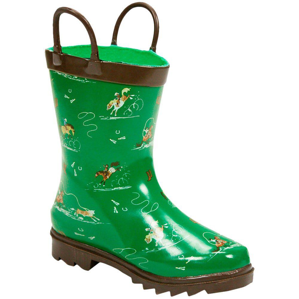 004cb5f7323 ... Bota Galocha Infantil Importada Verde Modalidades do Mundo Country -  Cowboys ...