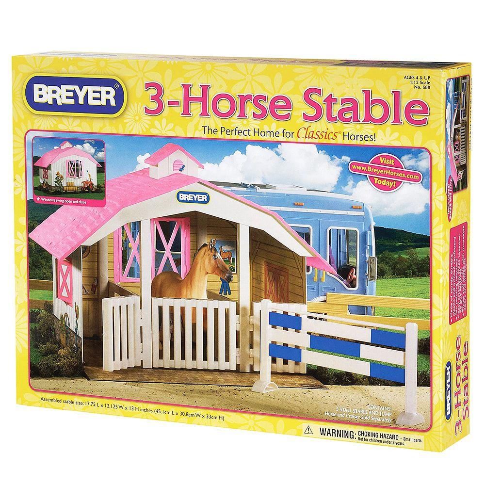 Brinquedo Breyer Estábulo Para 3 Cavalos