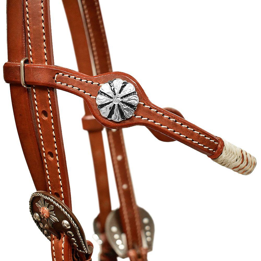 Cabeçada Cowboys com Testeira Charroada Laranja