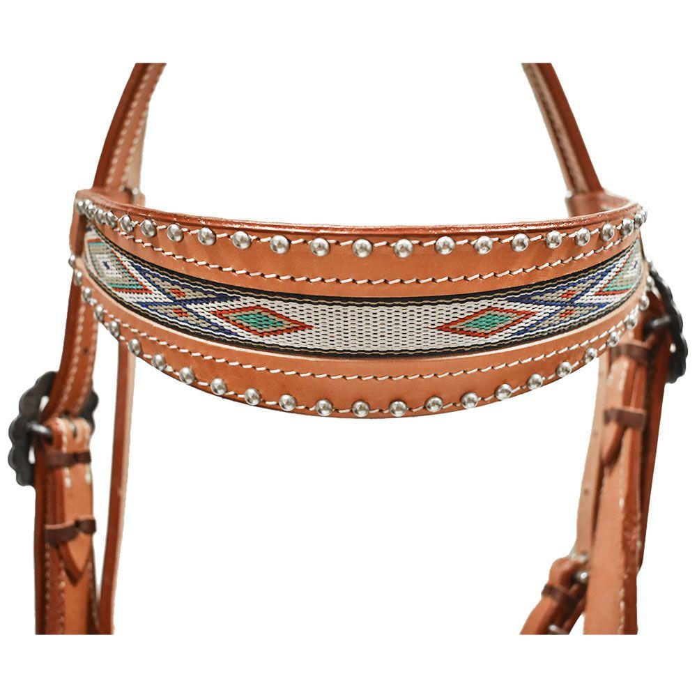 Cabeçada Cowboys com Testeira Larga Navajo