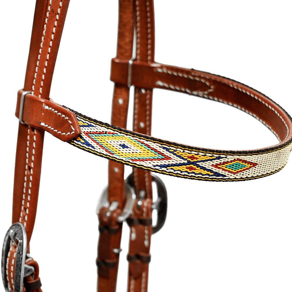 Cabeçada Cowboys com Testeira Navajo