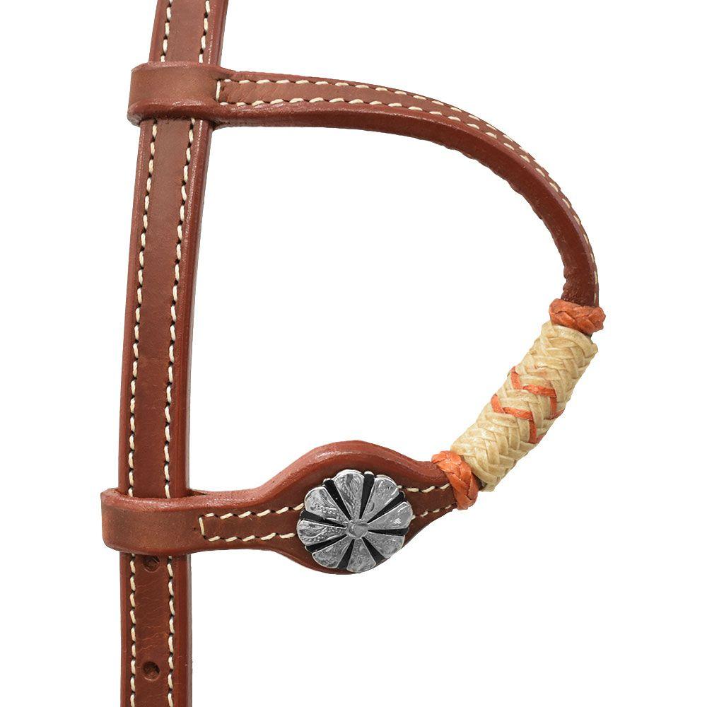 Cabeçada Orelinha Cowboys Charroada Laranja