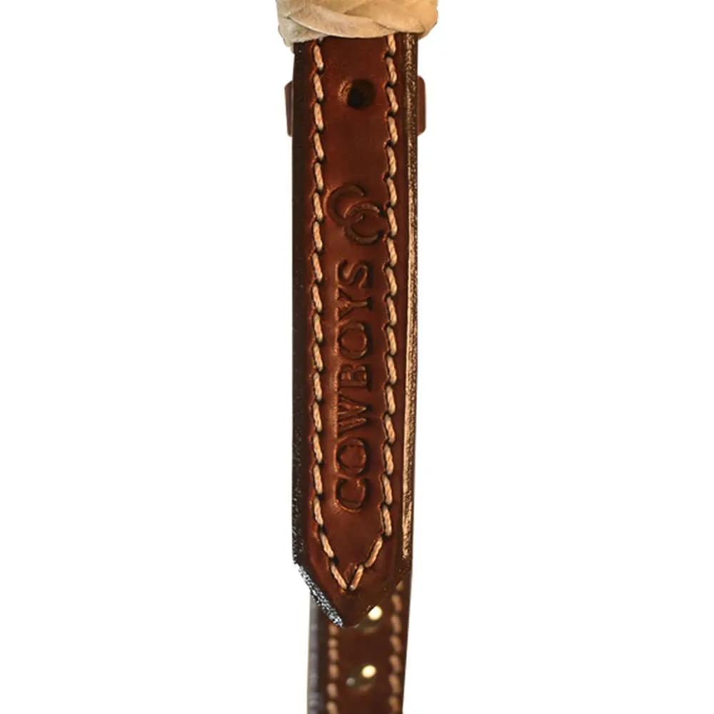 Cabeçada Testeira em Couro Cowboys com Tachas