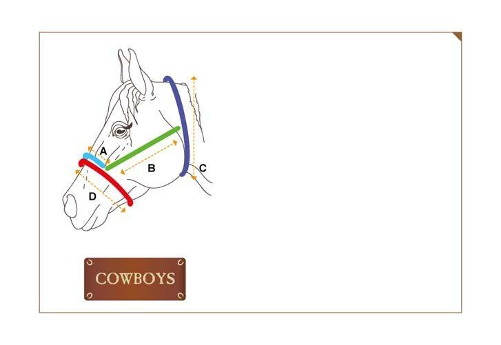 Cabresto e Cabo Boots Horse em Nylon Preto com Miçangas