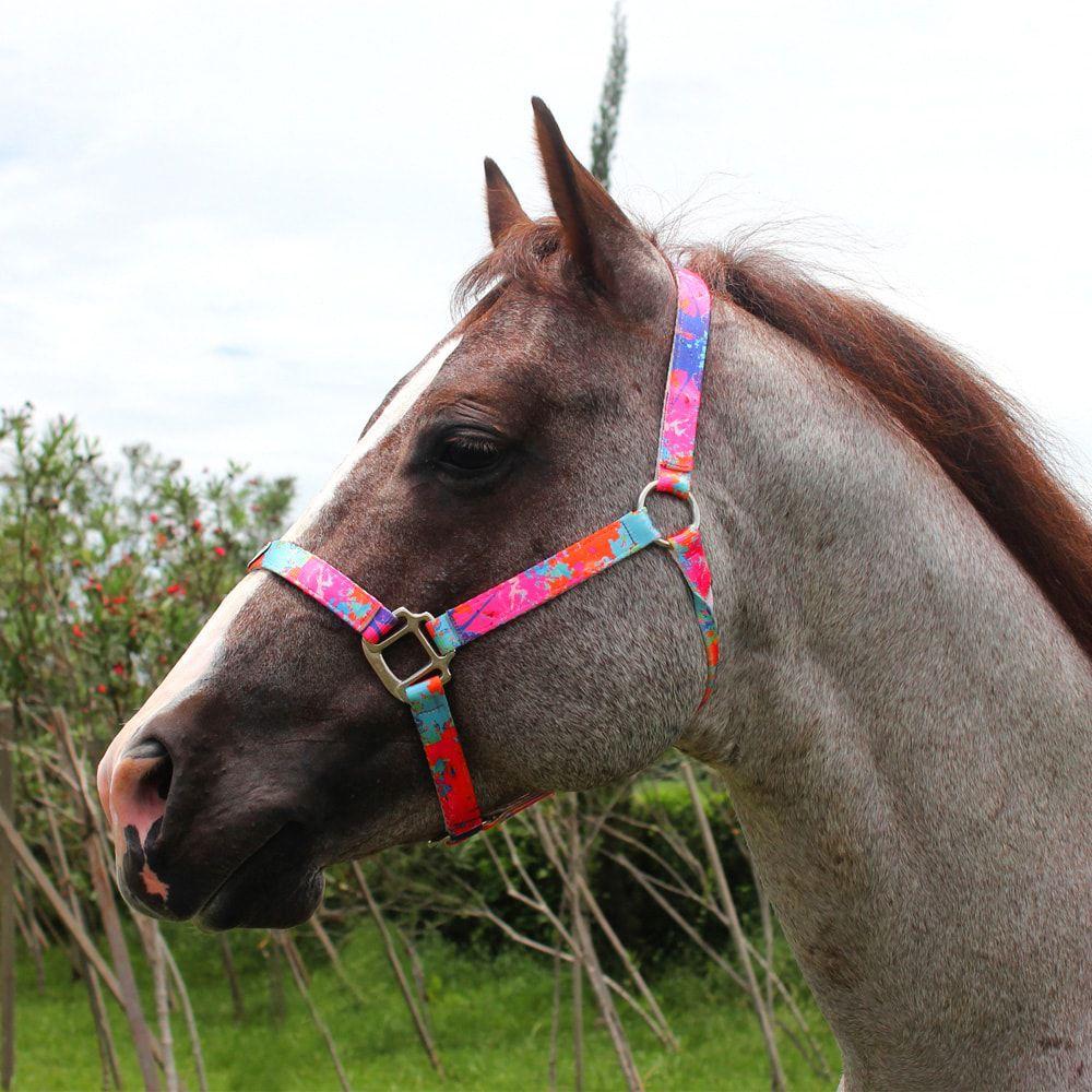 Cabresto Para Cavalo Boots Horse Rosa Estampado