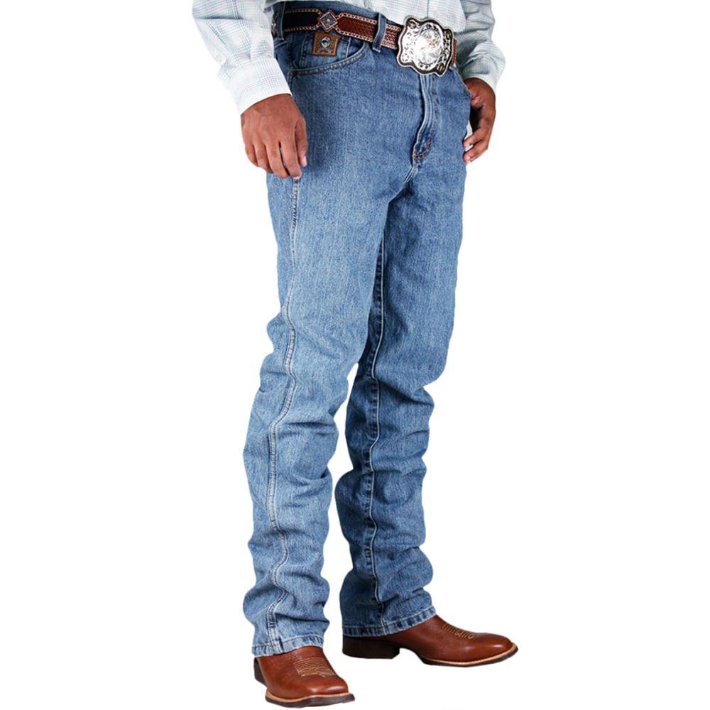 Calça Jeans Cinch Bronze Label Slim Fit Azul Stonada