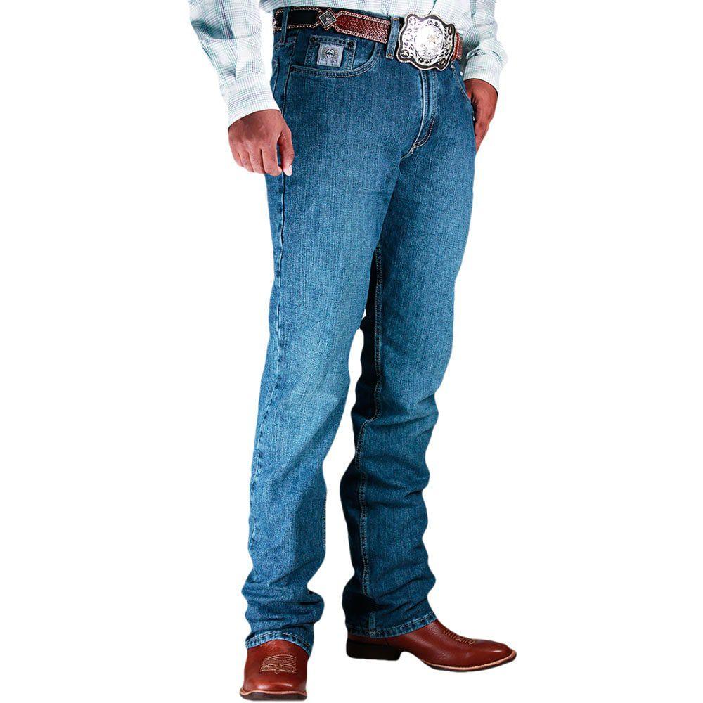 Calça Jeans Cinch Silver Label Slim Fit Azul Stonada