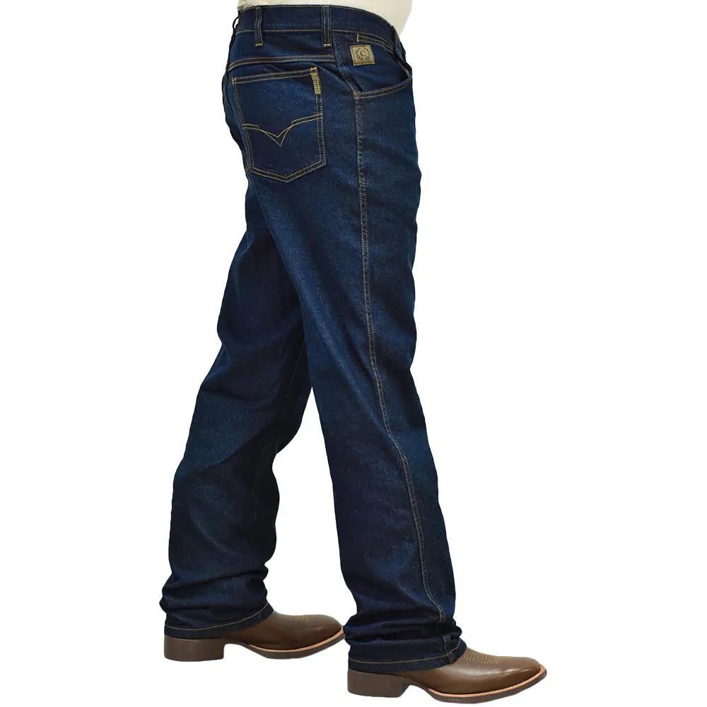 Calça Classic Cintura Média Corte Reto Com Strech