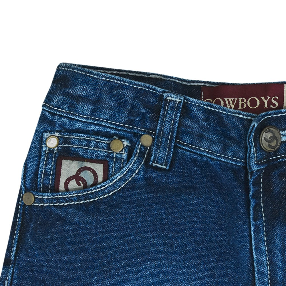 Calça Cowboys Jeans Juvenil Stonada