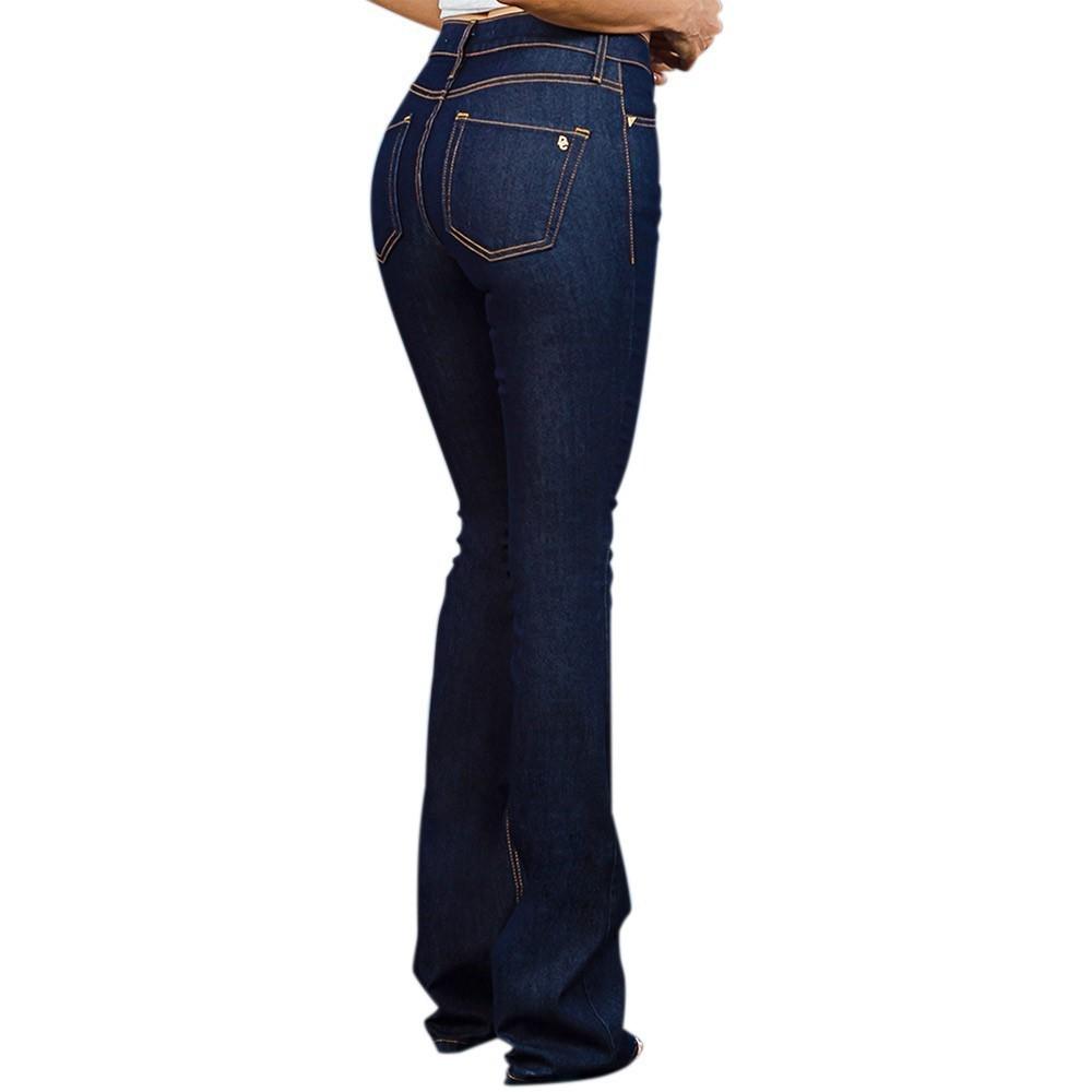 Calça Dicollani Jeans Feminina Flare Escuro