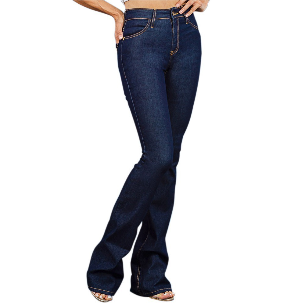 Calça Feminina Dicollani Jeans Flare Escuro