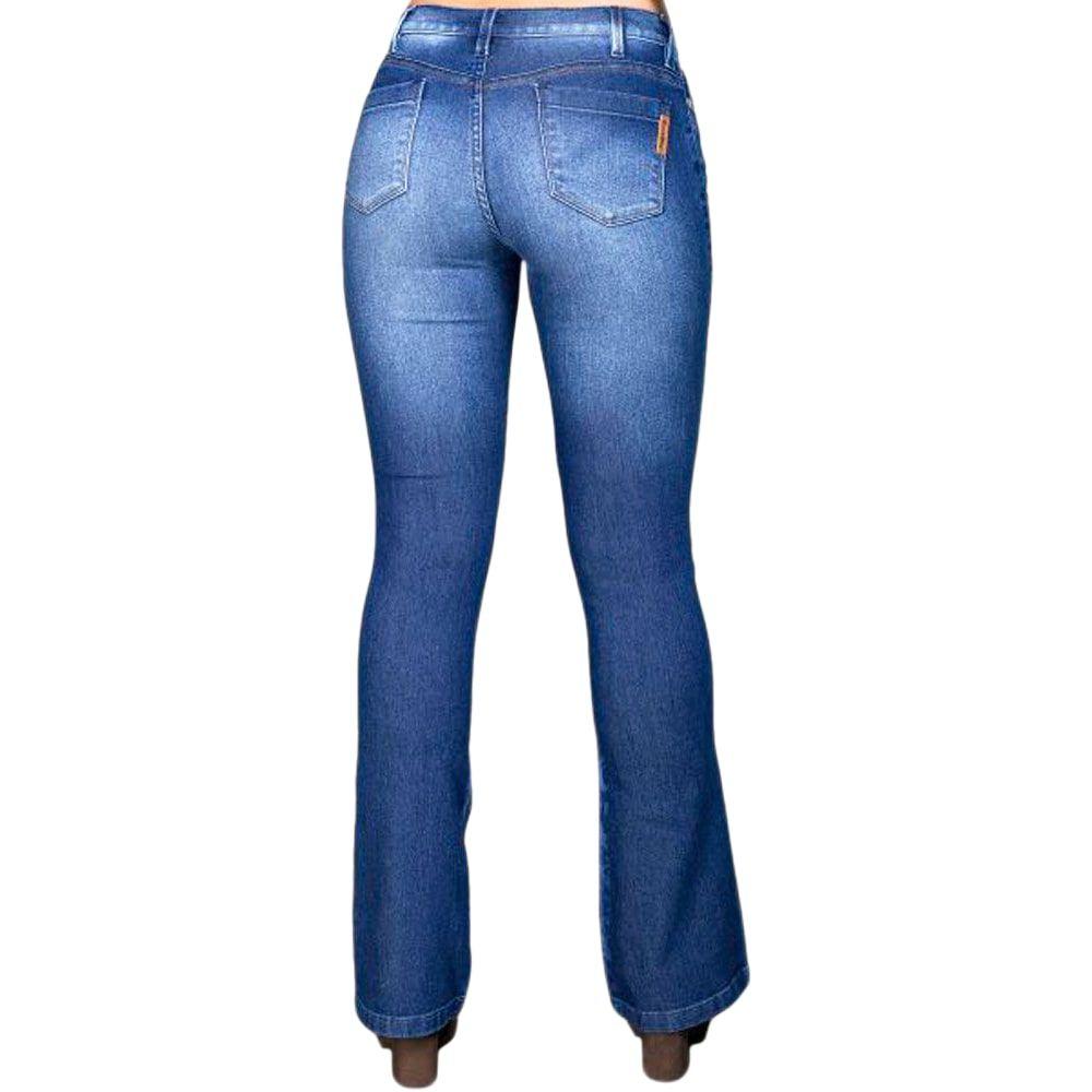 Calça Feminina Jeans Country Bill Way Corte Flare Degradê
