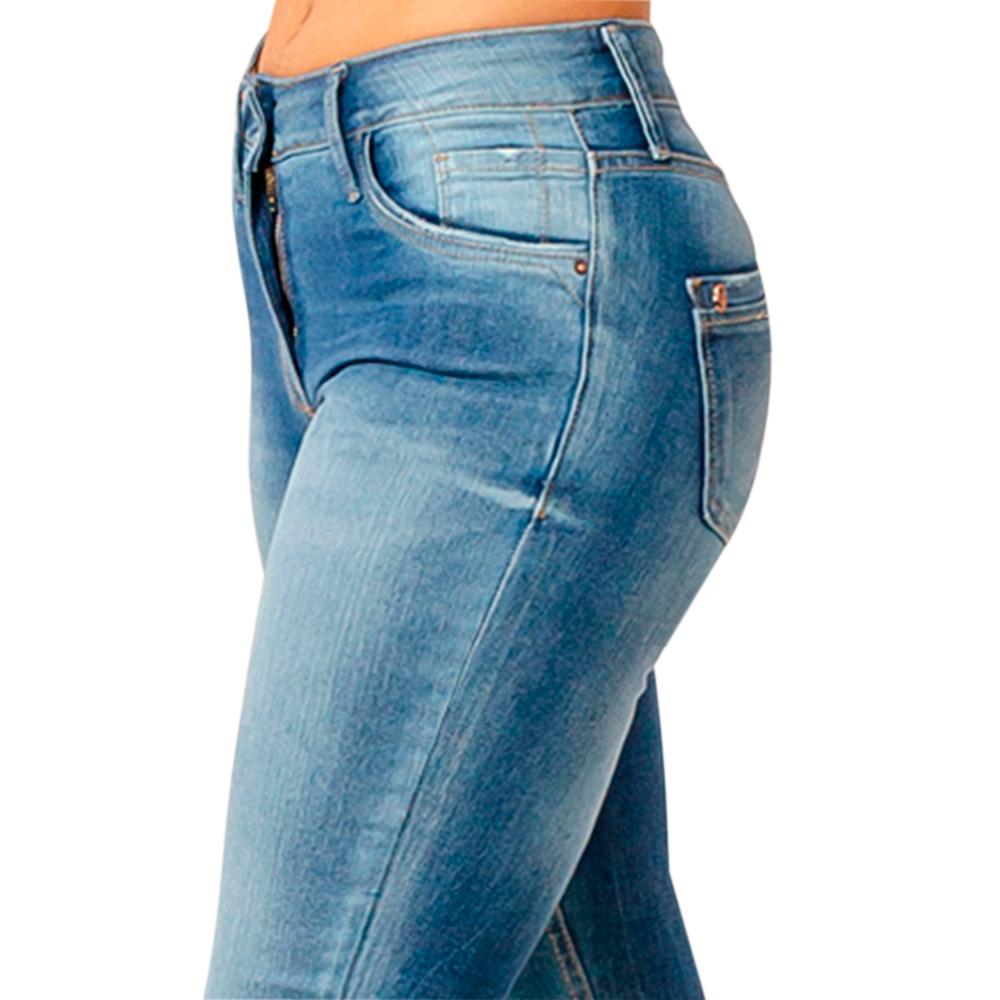 Calça Feminina Jeans Country Dicollani Corte Flare Degradê