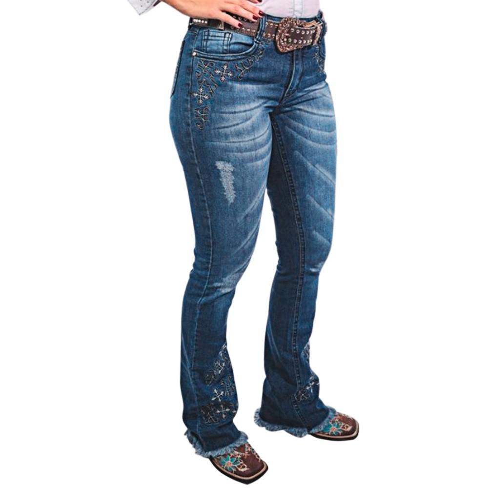 Calça Feminina IV Four Jeans Dakota com Bordado